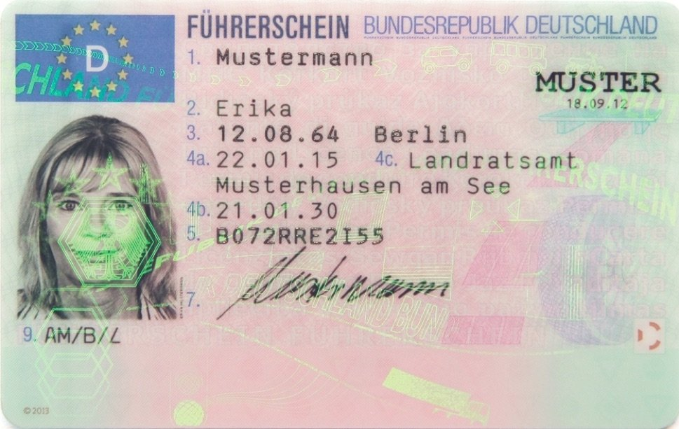 Image of driver license
