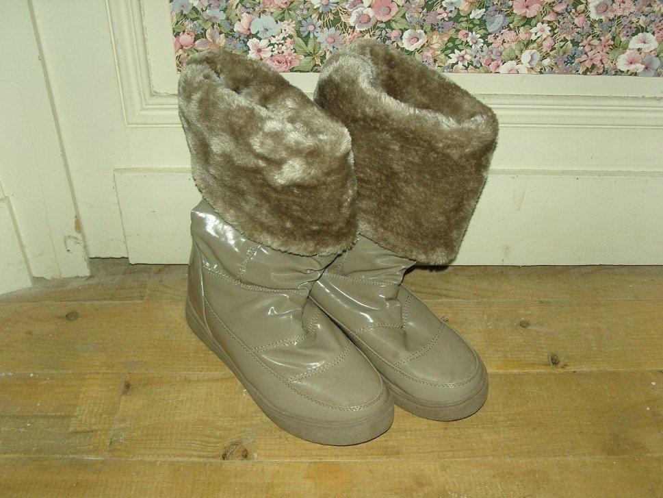 Boots in front of door