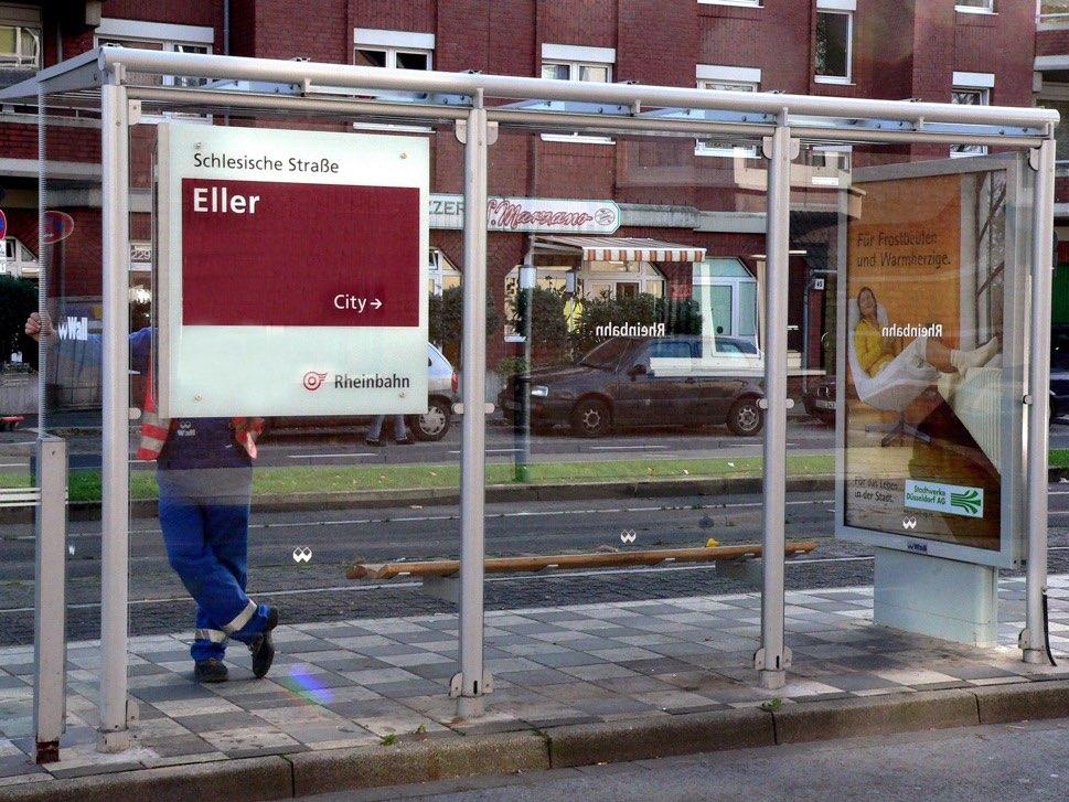 A tram stop