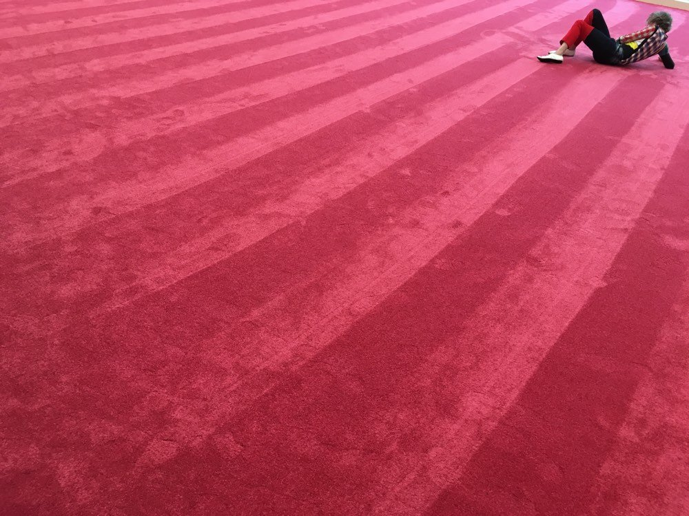 Artist performing on carpet