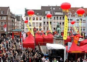Chinese stands at a festival