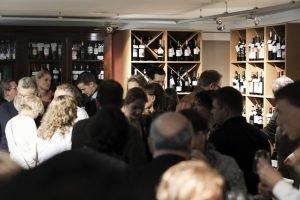 People at wine tasting event