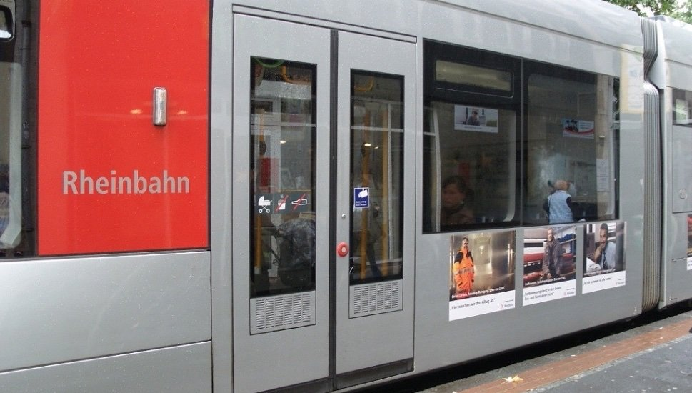 Tram doors on subway