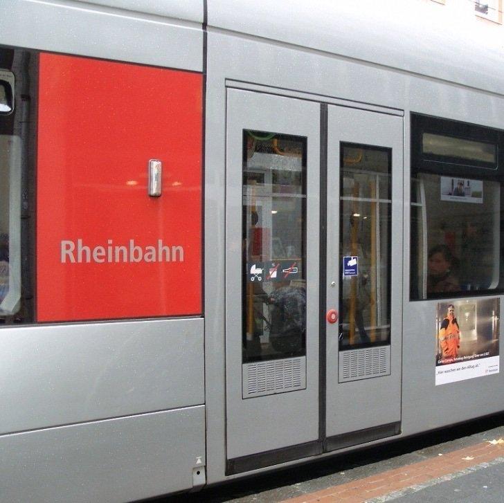 Tram doors on subway