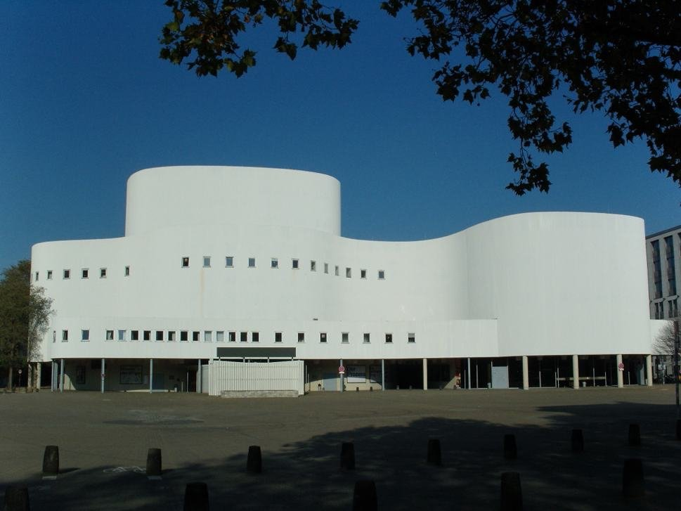 White theatre building