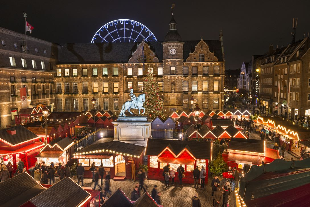 Christmas market aerial view