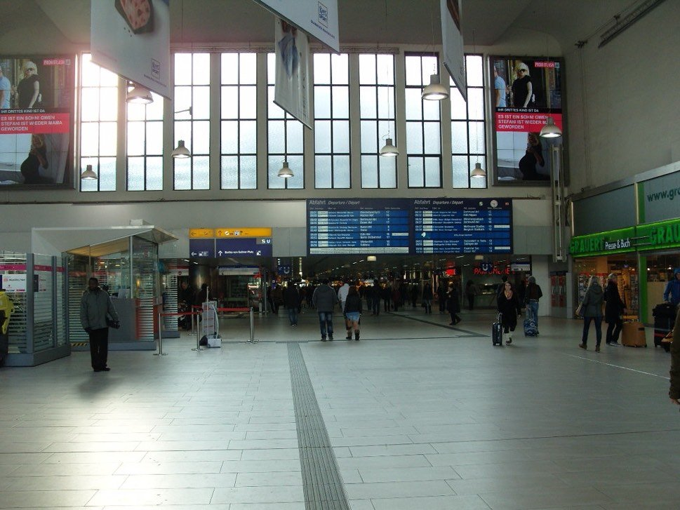Interior view of railway station