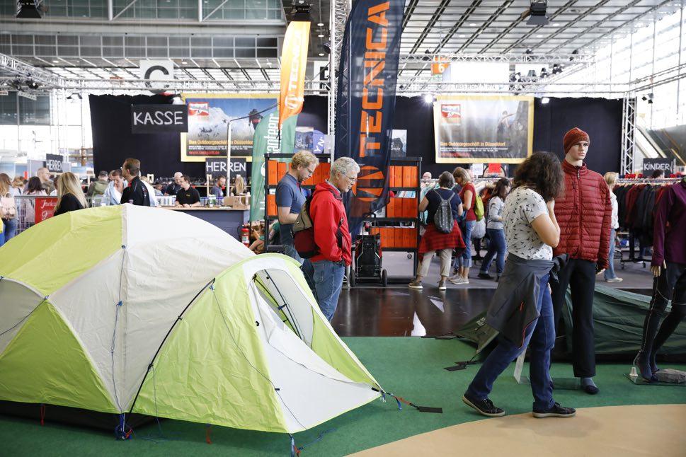 Tent at trade fair