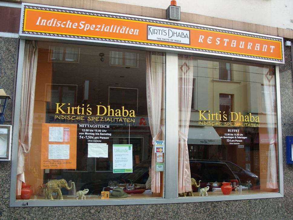 Frontage of Indian fast food