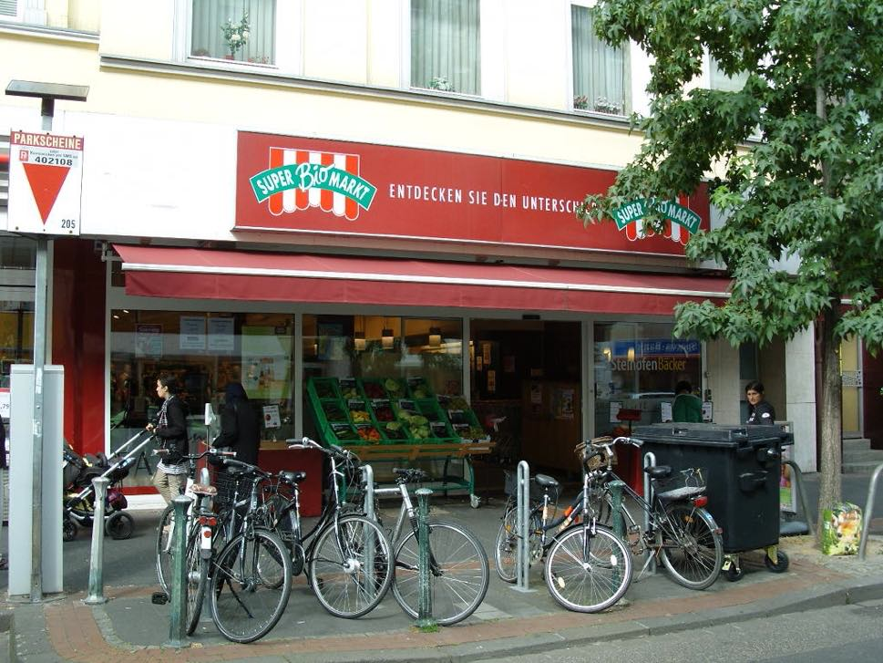 Organic store frontage