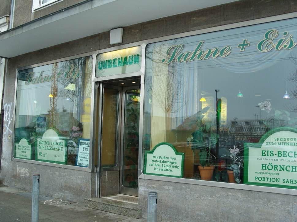 Ice cream store frontage