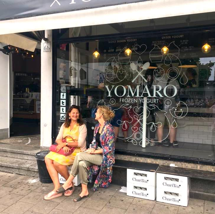 Women in front of store